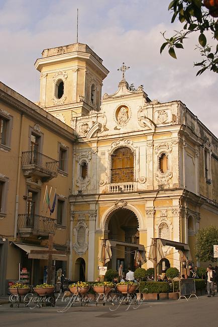 Exterior of Santuario della Madonna del Carmine, Sorrento, Napoli, Italy