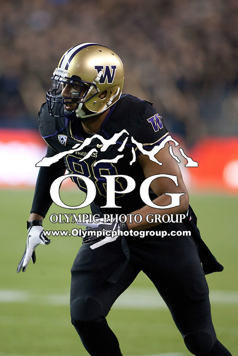 Sept 27, 2012:  Washington's Austin Seferian-Jenkins against Stanford.  Washington defeated Stanford 17-13 at CenturyLink Field in Seattle, Washington...