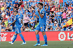 Jorge Molina of Getafe CF celebrates goal during La Liga match between Getafe CF and Deportivo Alaves at Colisseum Alfonso Perez in Getafe, Spain. August 31, 2019. (ALTERPHOTOS/A. Perez Meca)