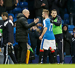 Mark Warburton with match winner Billy King at full-time
