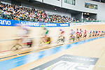 Riders compete in the Men's Omnium Finals during the 2017 UCI Track Cycling World Championships on 15 April 2017, in Hong Kong Velodrome, Hong Kong, China. Photo by Marcio Rodrigo Machado / Power Sport Images