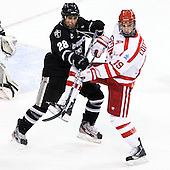 Steven Shamanski (PC - 28), Justin Courtnall (BU - 19) - The Boston University Terriers defeated the visiting Providence College Friars 6-1 on Friday, January 20, 2012, at Agganis Arena in Boston, Massachusetts.