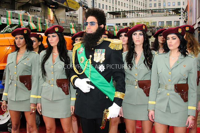 WWW.ACEPIXS.COM . . . . .  ..... . . . . US SALES ONLY . . . . .....May 10 2012, London....Sacha Baron Cohen dressed as Admiral General Aladeen at the World Premiere of 'The Dictator' at The Royal Festival Hall on May 10, 2012 in London, England.....Please byline: FAMOUS-ACE PICTURES... . . . .  ....Ace Pictures, Inc:  ..Tel: (212) 243-8787..e-mail: info@acepixs.com..web: http://www.acepixs.com