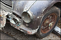 BNPS.co.uk (01202 558833)Pic Bonhams/BNPS<br /> <br /> Really? - Barn find Aston Martin still worth &pound;60,000.<br /> <br /> A rather tired British sports car that has languished in a garage for 50 years is still tipped to sell for an incredible &pound;60,000.<br /> <br /> The 1951 Aston Martin DB2 rust bucket has recently been rediscovered after being stored in a lock-up garage.<br /> <br /> It has been owned by the same family since 1966 but was only driven for two years before being put into storage.<br /> <br /> Despite its terrible condition the rare motor is expected to attract a lot of interest.<br /> <br /> Experts predict work to fix the ruined vehicle could take up to two years and cost a whopping &pound;150,000 - but it would then be worth nearly &pound;250,000.