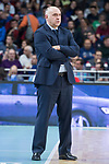 Real Madrid coach Pablo Laso during Turkish Airlines Euroleague match between Real Madrid and Olympiacos Piraeus at Wizink Center in Madrid , Spain. February 09, 2018. (ALTERPHOTOS/Borja B.Hojas)