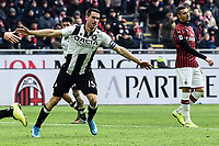 Kevin Lasagna of Udinese Calcio celebrates after scoring the goal of 2-2 <br /> Milano 19/01/2020 Stadio Giuseppe Meazza <br /> Football Serie A 2019/2020 <br /> AC Milan - Udinese Calcio <br /> Photo Image Sport / Insidefoto