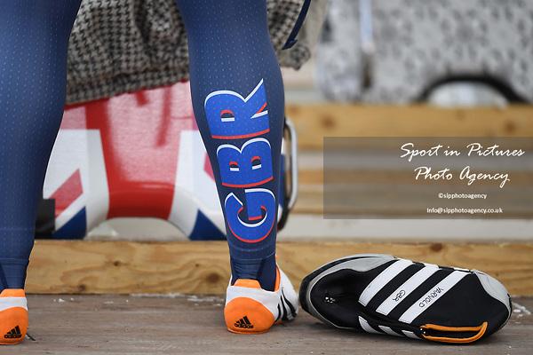 Lizzy Yarnold (GBR). Womens skeleton training. Pyeongchang2018 winter Olympics. Alpensia sliding centre. Alpensia. Gangneung. Republic of Korea. 12/02/2018. ~ MANDATORY CREDIT Garry Bowden/SIPPA - NO UNAUTHORISED USE - +44 7837 394578