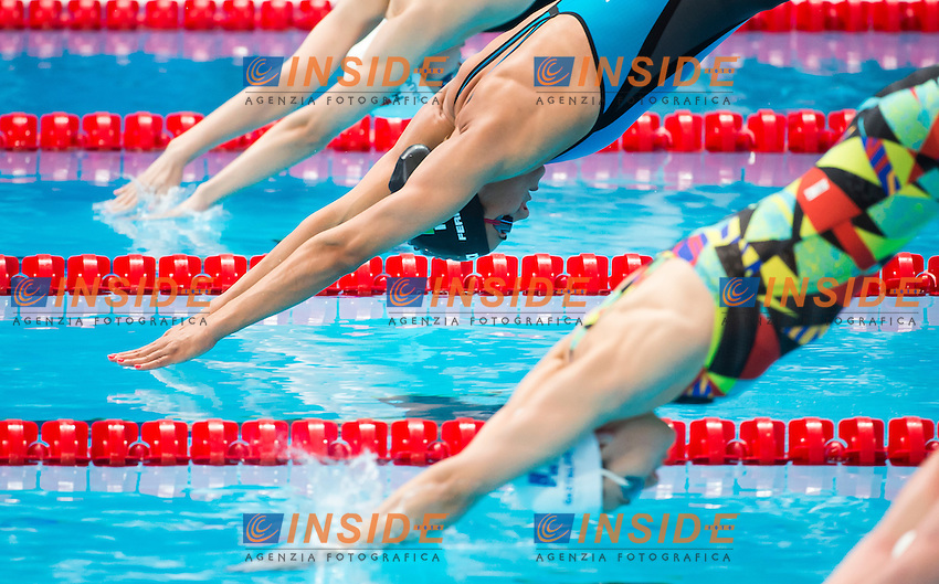 FERRAIOLI Erika ITA<br /> Swimming - Women's  100m freestyle heats<br /> Day 14 06/08/2015<br /> XVI FINA World Championships Aquatics Swimming<br /> Kazan Tatarstan RUS July 24 - Aug. 9 2015 <br /> Photo Giorgio Perottino/Deepbluemedia/Insidefoto