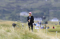 Enjoying the weather and the golf the 16th tee during Friday's Round 2 of the 2018 Dubai Duty Free Irish Open, held at Ballyliffin Golf Club, Ireland. 6th July 2018.<br /> Picture: Eoin Clarke | Golffile<br /> <br /> <br /> All photos usage must carry mandatory copyright credit (&copy; Golffile | Eoin Clarke)