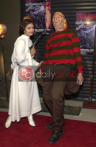 Danica McKellar and Freddy Kreuger