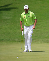 Lee Westwood (ENG) on the 14th green during Round 3 of the Maybank Malaysian Open at the Kuala Lumpur Golf & Country Club on Saturday 7th February 2015.<br /> Picture:  Thos Caffrey / www.golffile.ie