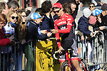 Edward Theuns (BEL) Trek-Segafredo with fans before the start of Gent-Wevelgem in Flanders Fields 2017, running 249km from Denieze to Wevelgem, Flanders, Belgium. 26th March 2017.<br /> Picture: Eoin Clarke | Cyclefile<br /> <br /> <br /> All photos usage must carry mandatory copyright credit (&copy; Cyclefile | Eoin Clarke)
