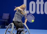 Rotterdam, Netherlands, December 14, 2016, Topsportcentrum, Lotto NK Tennis, Wheelchair, Donna Jansen (NED) <br /> Photo: Tennisimages/Henk Koster