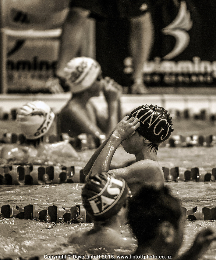 Session three of the 2015 State New Zealand Junior Swimming Championships at Welllington Regional Aquatics Centre, Kilbirnie, Wellington on Saturday, 21 February 2015. Photo: Dave Lintott / lintottphoto.co.nz