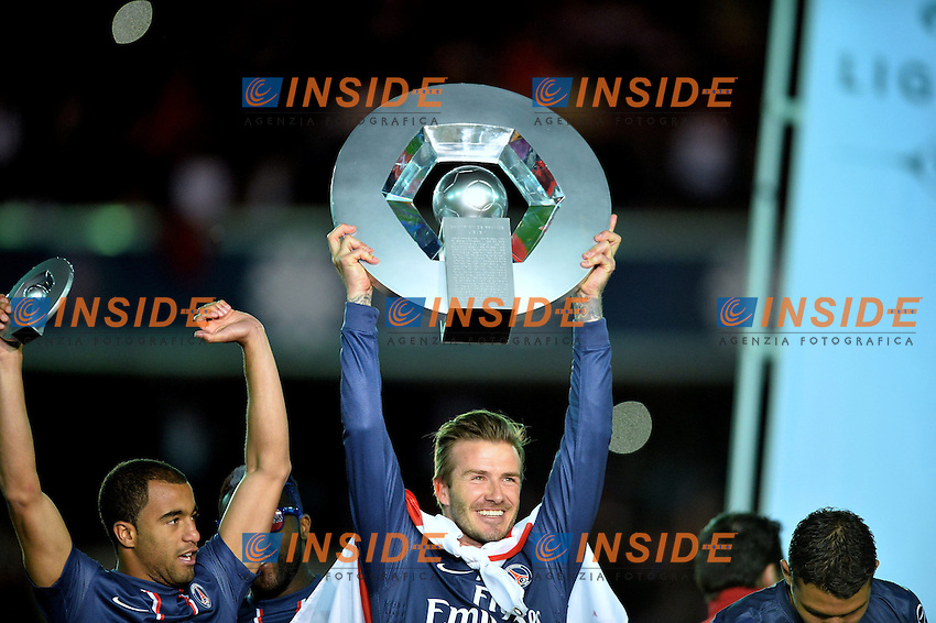 David Beckham (psg) .Festeggiamenti PSG Campione .Football Calcio 2012/2013.Ligue 1 Francia.Foto Panoramic / Insidefoto .ITALY ONLY