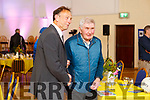 Tommy Doyle been honoured at the Camp Community Centre on Sunday evening stands Micko Dwyer
