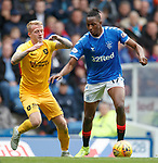 14.09.2019 Rangers v Livingston: Joe Aribo and Robbie Crawford
