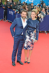 Clovis Cornillac and Lilou Fogli attends the 41st Deauville American Film Festival Opening Ceremony on September 4, 2015 in Deauville, France.