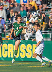 24 September 2016: Dartmouth College Big Green Midfielder Noah Paravicini, a Sophomore from Petaluma, CA, in action against the University of Vermont Catamounts at Virtue Field in Burlington, Vermont. The teams played to an overtime 1-1 tie in front of an Alumni Weekend crowd of 1,710 fans. Mandatory Credit: Ed Wolfstein Photo *** RAW (NEF) Image File Available ***