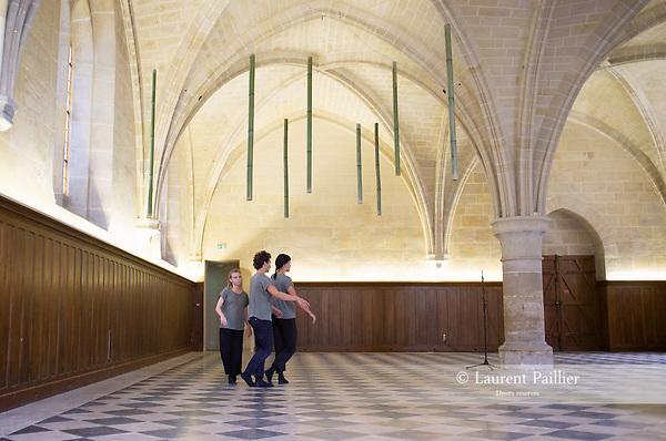 InFluence &ndash; R&eacute;fectoire des convers<br /> <br /> Efi Farmaki chor&eacute;graphie&nbsp;; Alessandro Perini Installation sonore et musique&nbsp;; Marta Capaccioli, Lucie Gemon, Pierre Theoleyre danse&nbsp;; Nicolas Garnier, Clotilde Rullaud, Elsa Marquet-Lienhart musique<br /> Lieu : Abbaye de Royaumont<br /> 25/08/2018