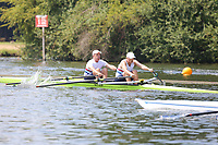 Race: 50  MasF.2x  Quarter-Final<br /> 152  Rio Salado Rowing Club, Arizona, USA<br /> 155  Walton Rowing Club<br /> <br /> Henley Masters Regatta 2018 - Friday<br /> <br /> To purchase this photo, or to see pricing information for Prints and Downloads, click the blue 'Add to Cart' button at the top-right of the page.