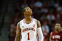 November 17, 2013: Deverell Biggs (1) of the Nebraska Cornhuskers looks up at the  scoreboard in the game against the South Carolina State Bulldogs at the Pinnacle Bank Areana, Lincoln, NE. Nebraska defeated South Carolina State 83 to 57.