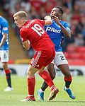05.08.18 Aberdeen v Rangers: Lassana Coulibaly caught in the face by Lewis Ferguson