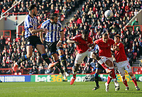 Atdhe Nuhiu of Sheffield Wednesday scores a goal but ruled offside during Charlton Athletic vs Sheffield Wednesday, Sky Bet EFL Championship Football at The Valley on 30th November 2019