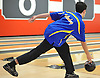 Brandon Wainwright of Kellenberg rolls during a three-game CHSAA boys bowling match against St. Anthony's at AMF Garden City Lanes on Monday, Jan. 9, 2017. He bowed a 237 in his second game.