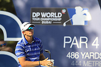Dean Burmester (RSA) on the 16th tee during the final round of the DP World Tour Championship, Jumeirah Golf Estates, Dubai, United Arab Emirates. 18/11/2018<br /> Picture: Golffile | Fran Caffrey<br /> <br /> <br /> All photo usage must carry mandatory copyright credit (© Golffile | Fran Caffrey)
