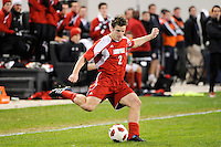 Charlie Campbell (2) of the Louisville Cardinals. The Louisville Cardinals defeated the Notre Dame Fighting Irish 1-0 during the semi-finals of the Big East Men's Soccer Championship at Red Bull Arena in Harrison, NJ, on November 12, 2010.