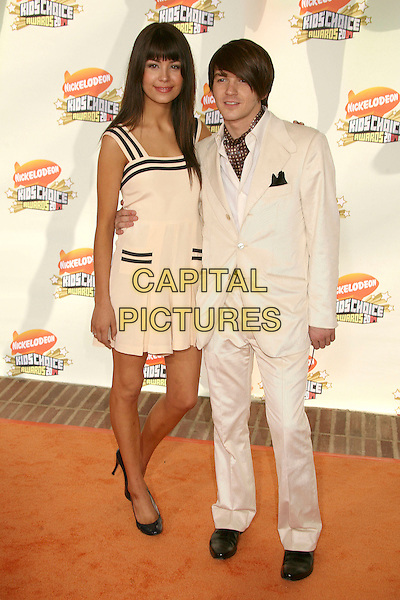MELISSA LINGAFELT & DRAKE BELL.Nickelodeon's 20th Annual Kids' Choice Awards at UCLA's Pauley Pavilion, Westwood, California , USA,  .31 March 2007..full length white suit dress.CAP/ADM/BP.©Byron Purvis/AdMedia/Capital Pictures.