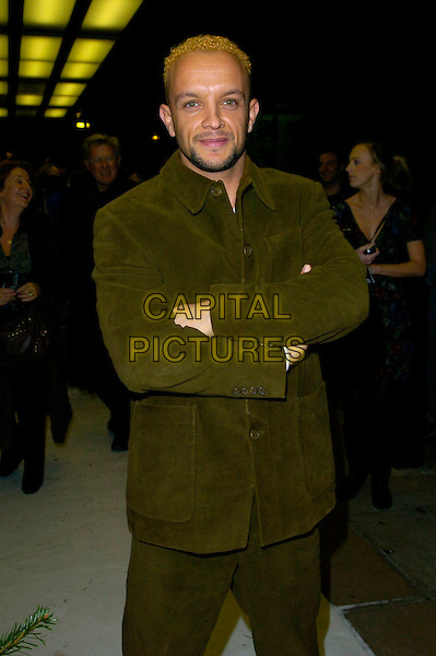 "JAMIE BAULICH.The ""Hogfather"" world TV premiere, Curzon Mayfair cinema, London, UK..November 27th, 2006.half length green suit arms crossed.CAP/CAN.©Can Nguyen/Capital Pictures"