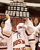 Haley McLean (BC - 13) - The Boston College Eagles defeated the Northeastern University Huskies 2-1 to win the Beanpot on Monday, February 7, 2017, at Matthews Arena in Boston, Massachusetts.