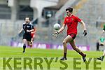 Jack Brosnan Glenbeigh Glencar in action against  Rock Saint Patricks in the Junior Football All Ireland Final in Croke Park on Sunday.