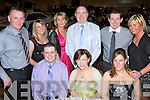 MOTOR: Members of Kerry Motor Club enjoying a night out at the Top Part West Coast Rally Championship prizegiving night held in the Brandon Hotel on Saturday night. Seated l-r: Aiden O'Connor, Elaine O'Halloran and Joanne McDonnell. Standing l-r: Victor Fealy, Michelle Walsh, Noreen Walsh, Noel O'Connor, James Kelly and Elaine Ni? She?.   Copyright Kerry's Eye 2008