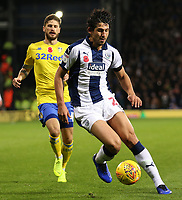 Leeds United's Mateusz Klich chases down West Bromwich Albion's Ahmed Hegazy<br /> <br /> Photographer David Shipman/CameraSport<br /> <br /> The EFL Sky Bet Championship - West Bromwich Albion v Leeds United - Saturday 10th November 2018 - The Hawthorns - West Bromwich<br /> <br /> World Copyright &copy; 2018 CameraSport. All rights reserved. 43 Linden Ave. Countesthorpe. Leicester. England. LE8 5PG - Tel: +44 (0) 116 277 4147 - admin@camerasport.com - www.camerasport.com
