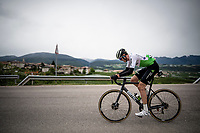 Ben O'Connor (AUS/Dimension Data) is the first to try and escape<br /> <br /> Stage 17: Commezzadura (Val di Sole) to Anterselva/Antholz (181km)<br /> 102nd Giro d'Italia 2019<br /> <br /> ©kramon