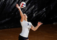 Florida International University women's volleyball player Silvia Carli (9) plays against Florida Atlantic University.  FIU won the match 3-0 on October 26, 2011 at Miami, Florida. .