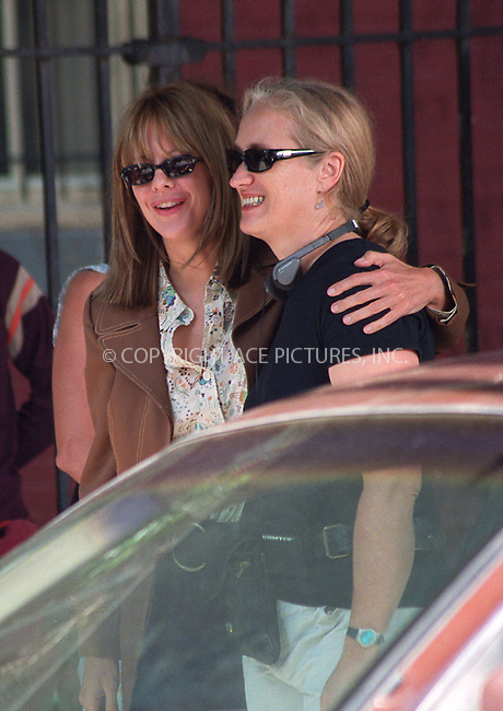 "Meg Ryan and director Jane Campion on the set of their latest film ""In the Cut."" East Village, New York, July 24, 2002. Please byline: Alecsey Boldeskul/NY Photo Press.   ..*PAY-PER-USE*      ....NY Photo Press:  ..phone (646) 267-6913;   ..e-mail: info@nyphotopress.com"