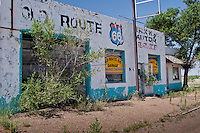 Numerous business that were once thriving along Route 66 in San Jon New Mexico, are now closed and server as a reminder of the more prosperous times.
