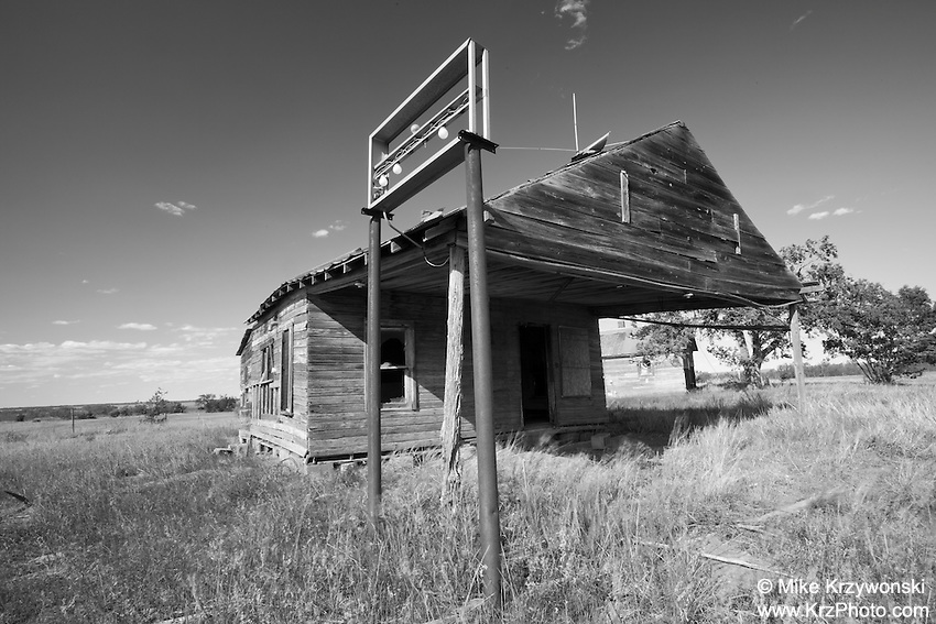 Old Abandoned Store Building in Oklahoma