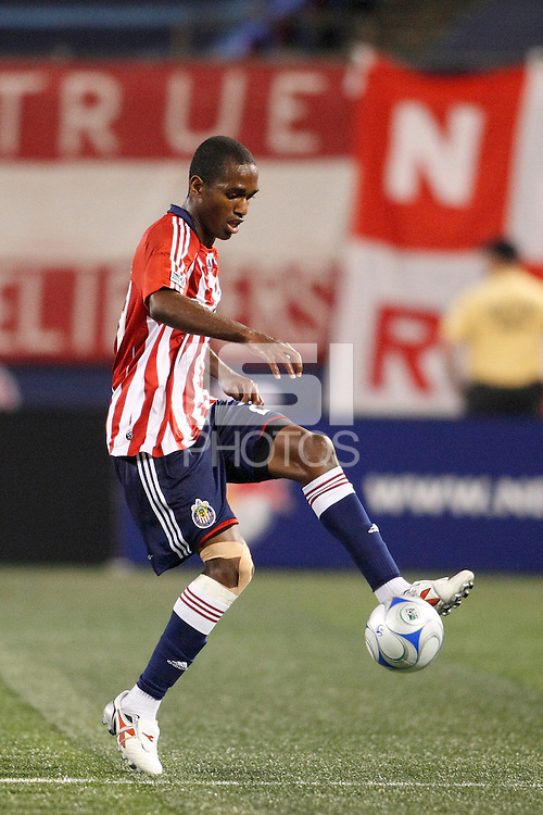 CD Chivas USA forward Atiba Harris (24). The New York Red Bulls defeated CD Chivas USA 1-0 during a Major League Soccer match at Giants Stadium in East Rutherford, NJ, on June 5, 2008.
