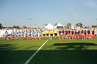 Boyds, MD - Saturday June 25, 2016: Washington Spirit, Sky Blue FC, Referees prior to a United States National Women's Soccer League (NWSL) match between the Washington Spirit and Sky Blue FC at Maureen Hendricks Field, Maryland SoccerPlex.