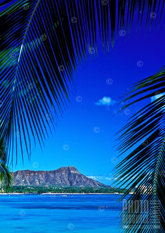Diamond Head Crater. One of Hawaii's most distinguishable landmarks.Located near famous Waikiki Beach.