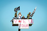 High vantage point during Stage 6 of the 2018 Tour de France running 181km from Brest to Mur-de-Bretagne Guerledan, France. 12th July 2018. <br /> Picture: ASO/Pauline Ballet | Cyclefile<br /> All photos usage must carry mandatory copyright credit (&copy; Cyclefile | ASO/Pauline Ballet)