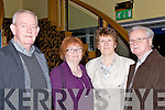 ATTENDENCE: in atttendence at the Lee Strand Garda Youths Award in the Brrandon Hotel, Tralee on Friday night L-r: Liam Ryan, Tess Fitzgerald,Kit Ryan and Jim Fitzgerald.....