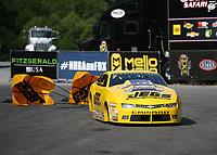 Jun 17, 2018; Bristol, TN, USA; NHRA pro stock driver Jeg Coughlin Jr during the Thunder Valley Nationals at Bristol Dragway. Mandatory Credit: Mark J. Rebilas-USA TODAY Sports
