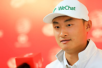 Haotong Li (CHN) speaking to the media ahead at the WGC HSBC Champions 2019, Sheshan Golf Club, Shanghai, China. 29/10/2019.<br /> Picture Fran Caffrey / Golffile.ie<br /> <br /> All photo usage must carry mandatory copyright credit (© Golffile | Fran Caffrey)