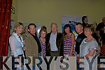 At the art exhibition in Halla Le Che?ile, Brandon on Saturday night in aid of  the Irish Kidney Association were Brona Tennyson dialysis patient and PRO Kerry Branch of the Irish Kidney Association Tom Carroll to the rear and slightly out of view Transplant recipient, member IKA Tom Fleming Chairman Kerry IKA Transplant recipient Bridie Carroll Spouse and volunteer Michael Quinn Transplant recipient, member IKA Theresa Looney IKA Kerry Branch James Dowd dialysis patient and orgainser Deirdre Lynch